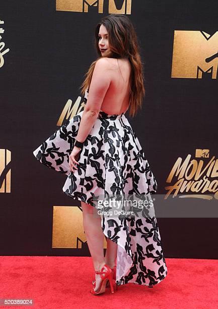 Actress Jillian Rose Reed arrives at the 2016 MTV Movie Awards at Warner Bros Studios on April 9 2016 in Burbank California