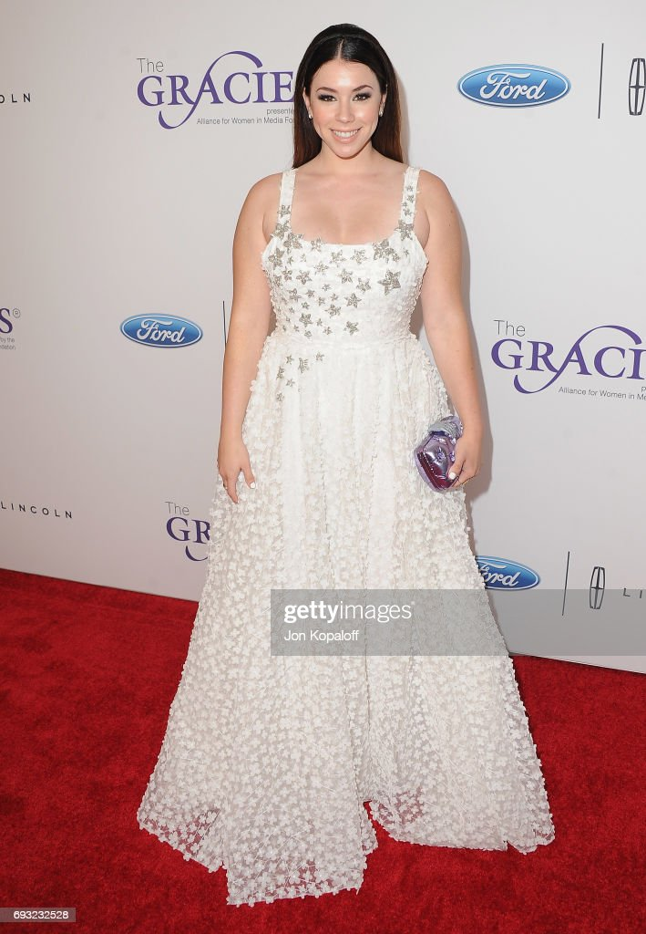 Actress Jillian Rose Reed arrives at the 42nd Annual Gracie Awards at the Beverly Wilshire Four Seasons Hotel on June 6, 2017 in Beverly Hills, California.