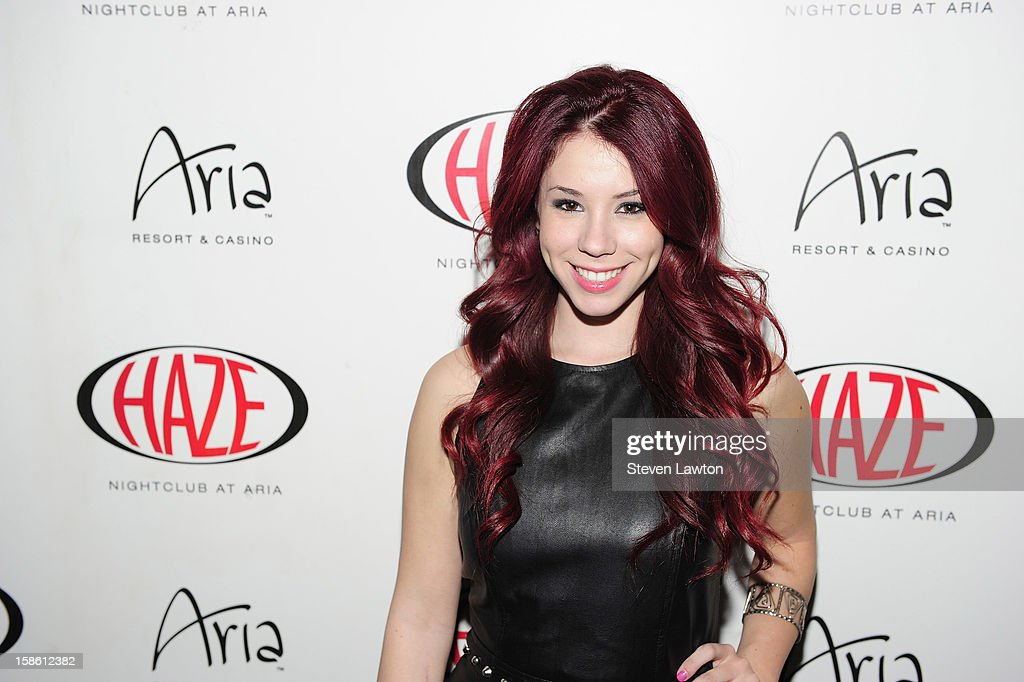 Actress Jillian Rose Reed arrives for her 21st birthday celebration at Haze Nightclub at the Aria Resort & Casino at CityCenter on December 20, 2012 in Las Vegas, Nevada.