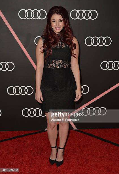 Actress Jillian Rose Reed arrives to Audi Celebrates Golden Globes Weekend at Cecconi's Restaurant on January 9 2014 in Los Angeles California