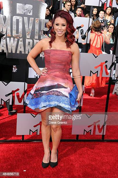 Actress Jillian Rose Reed attends the 2014 MTV Movie Awards at Nokia Theatre LA Live on April 13 2014 in Los Angeles California