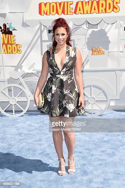 Actress Jillian Rose Reed attends The 2015 MTV Movie Awards at Nokia Theatre L.A. Live on April 12, 2015 in Los Angeles, California.