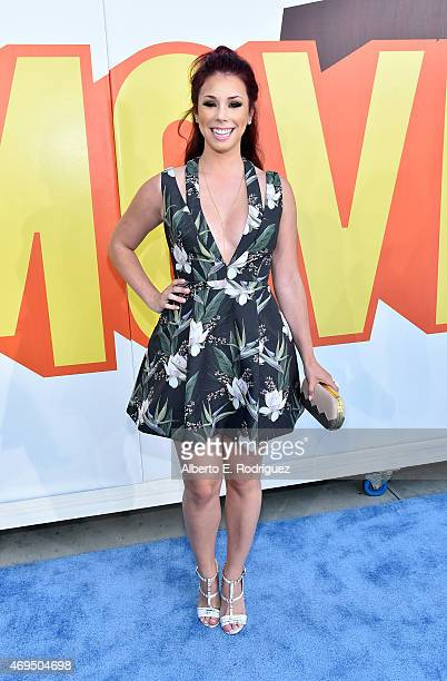 Actress Jillian Rose Reed attends The 2015 MTV Movie Awards at Nokia Theatre LA Live on April 12 2015 in Los Angeles California