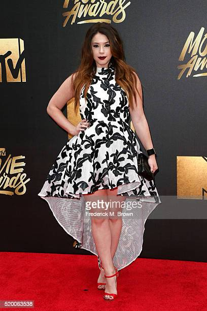 Actress Jillian Rose Reed attends the 2016 MTV Movie Awards at Warner Bros Studios on April 9 2016 in Burbank California MTV Movie Awards airs April...
