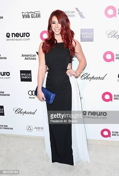 Actress Jillian Rose Reed attends the 23rd Annual Elton John AIDS Foundation's Oscar Viewing Party on February 22 2015 in West Hollywood California