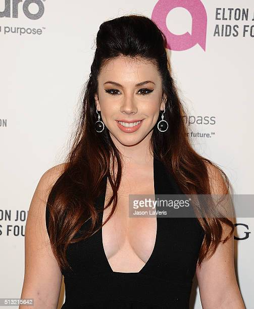 Actress Jillian Rose Reed attends the 24th annual Elton John AIDS Foundation's Oscar viewing party on February 28 2016 in West Hollywood California