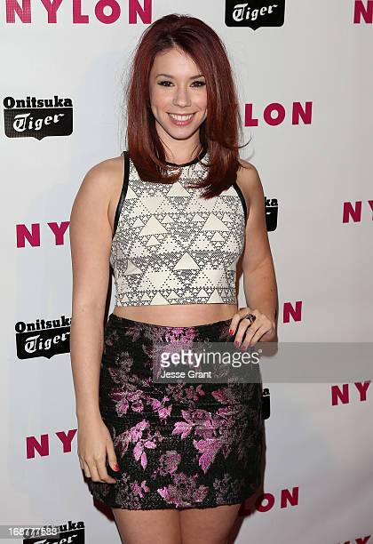 Actress Jillian Rose Reed attends the NYLON Magazine Annual May Young Hollywood Issue Party at The Roosevelt Hotel on May 14 2013 in Hollywood...