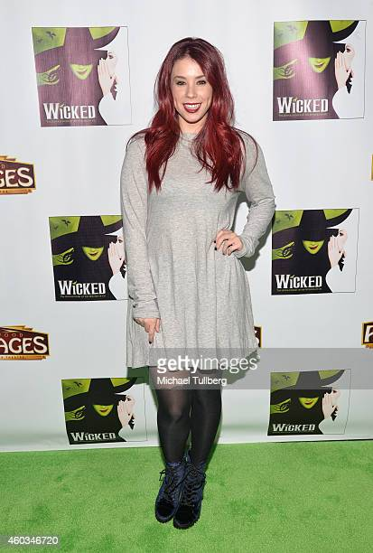 Actress Jillian Rose Reed attends the opening night of the musical 'Wicked' at the Pantages Theatre on December 11 2014 in Hollywood California