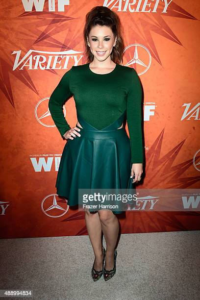 Actress Jillian Rose Reed attends the Variety and Women in Film Annual PreEmmy Celebration at Gracias Madre on September 18 2015 in West Hollywood...