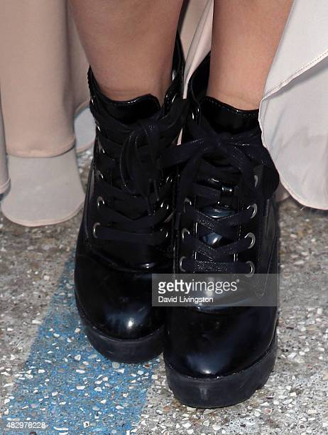 Actress Jillian Rose Reed shoe detail attends the 2nd Annual Ivy Innovator Film Awards at Smogshoppe on August 4 2015 in Los Angeles California