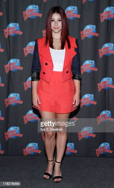Actress Jillian Rose Reed visits Planet Hollywood Times Square on August 28 2013 in New York City