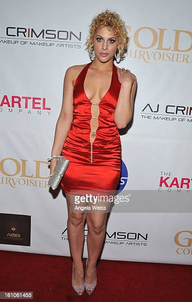 """Actress Jillisa Lynn arrives at BET Network's Music Matters Showcase """"Lipstick On The Mic"""" at Belasco Theatre on February 8, 2013 in Los Angeles,..."""
