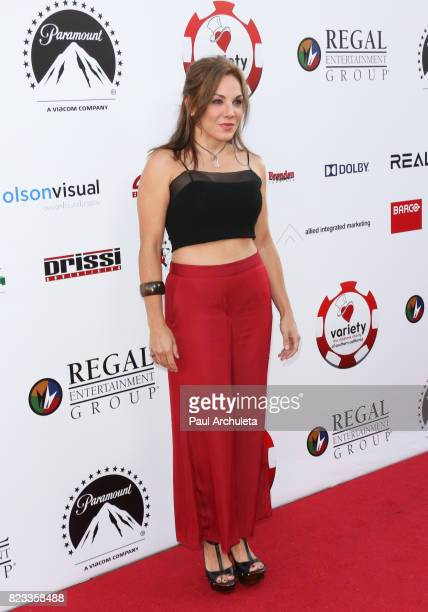 Actress JillMichele Melean attends the 7th Annual Variety and The Children's Charity Of Southern California's Texas Hold 'Em Poker Tournament at...