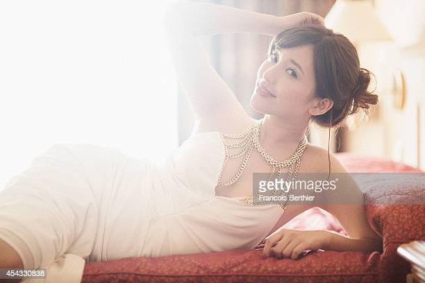Actress Jin Cha is photographed for Self Assignment on August 4 2014 in Paris France