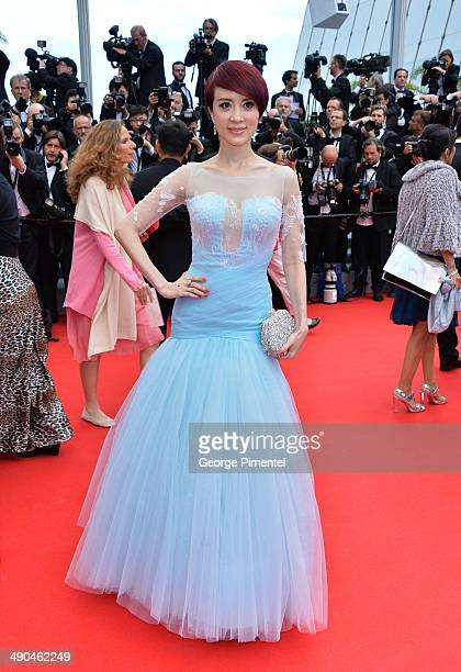 Actress Jin Qiaoqiao attends the opening ceremony and 'Grace of Monaco' premiere at the 67th Annual Cannes Film Festival on May 14 2014 in Cannes...