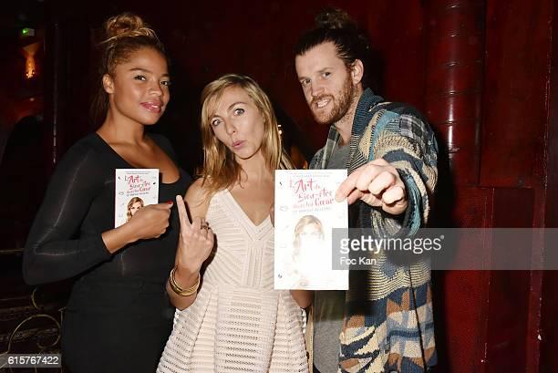 Actress Jina Djemba Amelie Etasse and Julien Vasnier attend 'L'Art du Bien Etre Et Ailleurs Dans Ton Coeur' Amelie Etasse and Clement Vallos Book...