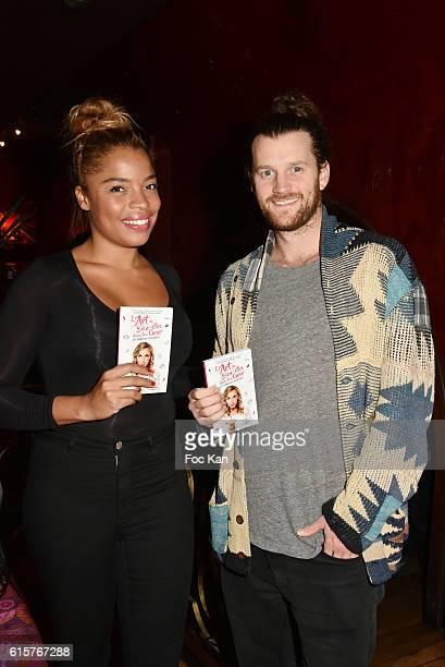 Actress Jina Djemba and Julien Vasnier attend 'L'Art du Bien Etre Et Ailleurs Dans Ton Coeur' Amelie Etasse and Clement Vallos Book Launching at...