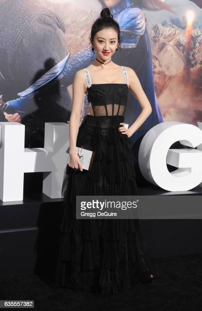 Actress Jing Tian arrives at the premiere of Universal Pictures' 'The Great Wall' at TCL Chinese Theatre IMAX on February 15 2017 in Hollywood...