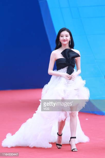 Actress Jing Tian attends the closing ceremony of the 5th Jackie Chan International Action Film Week on July 27 2019 in Datong Shanxi Province of...