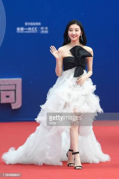 Actress Jing Tian attends the closing ceremony of the 5th Jackie Chan International Action Film Week at Datong Stadium on July 27 2019 in Datong...