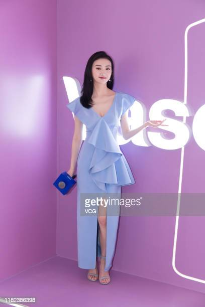 Actress Jing Tian attends Vaseline promotional event on October 20, 2019 in Guangzhou, Guangdong Province of China.