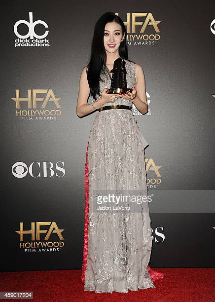 Actress Jing Tian poses in the press room at the 18th annual Hollywood Film Awards at Hollywood Palladium on November 14 2014 in Hollywood California