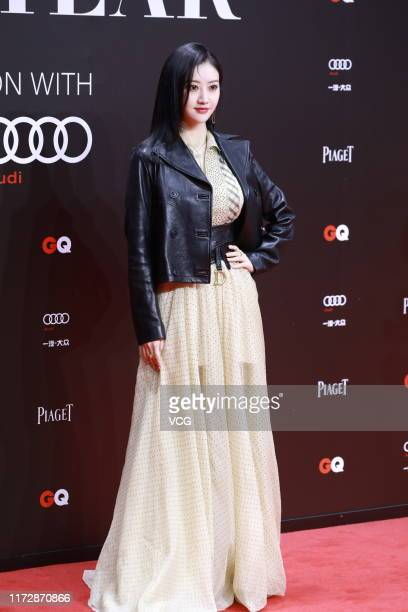 Actress Jing Tian poses on the red carpet of 2019 GQ Men of the Year awards ceremony on September 6 2019 in Shanghai China