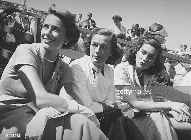 Actress JInx Falkenburg former swimmer Eleanor Holm and socialite Jeanne Murray Vanderbilt circa 1948