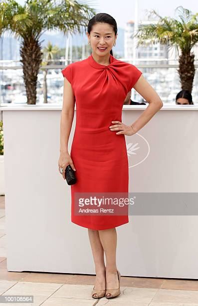 Actress Jiwon Ye attends the 'Ha Ha Ha' Photocall at the Palais des Festivals during the 63rd Annual Cannes Film Festival on May 21 2010 in Cannes...
