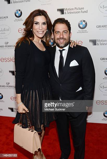 Actress Jo Champa and Brett Ratner attend the 100th anniversary celebration of the Beverly Hills Hotel Bungalows supporting the Motion Picture...