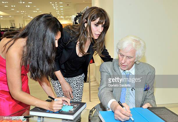 Actress Jo Champa and photographer Douglas Kirkland attend a cocktail event in support of HOLA Heart of Los Angeles hosted by Barneys New York Simon...