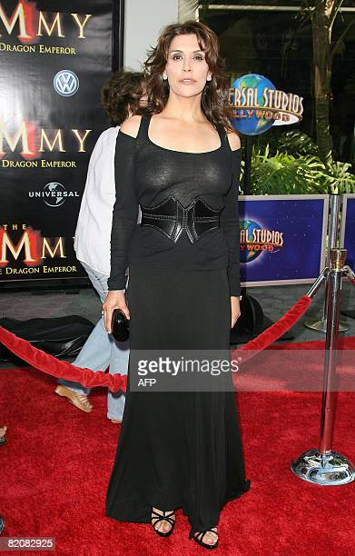Actress Jo Champa arrives for the premiere of 'The Mummy Tomb of the Dragon Emperor' in Studio City on July 27 2008 AFP PHOTO / VALERIE MACON