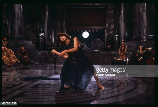 Actress Jo Champa dances in the middle of a circular room during the shooting of the movie Salome based on British writer Oscar Wilde's 1892 tragedy...