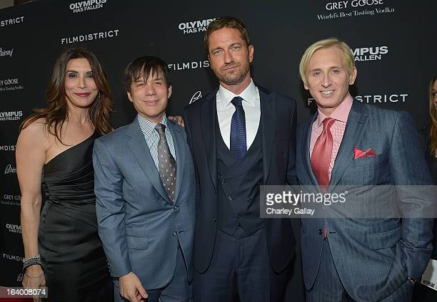 Actress Jo Champa producer Alan Siegel actor Gerard Butler and designer David Meister attend Brioni Sponsors Film District's World Premiere Of...