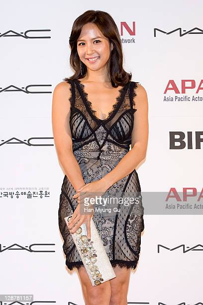 Actress Jo YeoJung arrives for the Asia Pacific Actors Network Star Road of the 16th Busan International Film Festival at the Haeundae beach on...