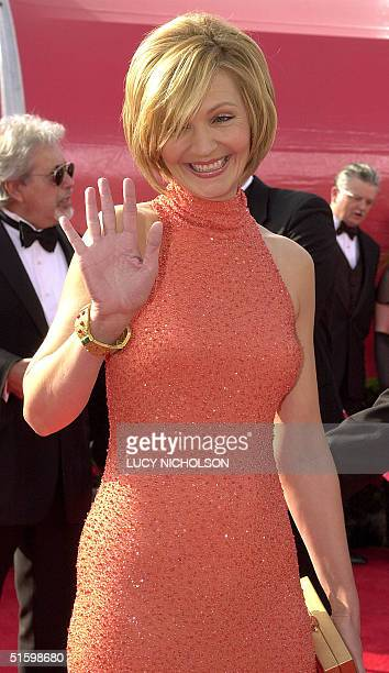 US actress Joan Allen arrives at the 73rd Annual Academy Awards at the Shrine Auditorium in Los Angeles CA 25 March 2001 Allen is nominated for Best...