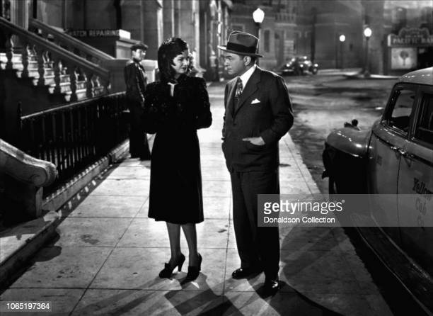 Actress Joan Bennett and Edward G Robinson in a scene from the movie The Woman in the Window