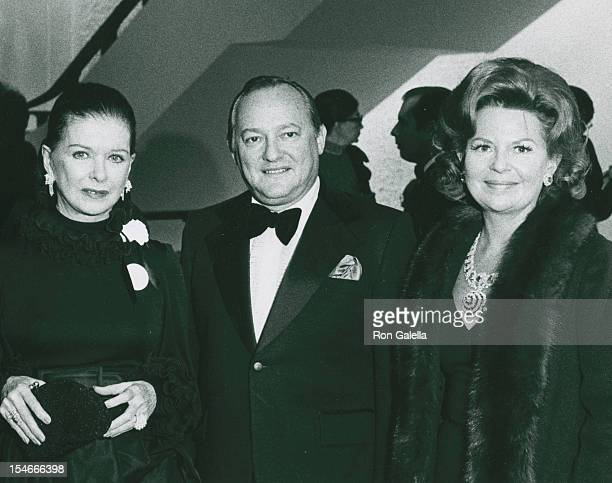 Actress Joan Bennett and guests attending Grand Opening Of The Uris Theater on November 19 1972 in New York City New York
