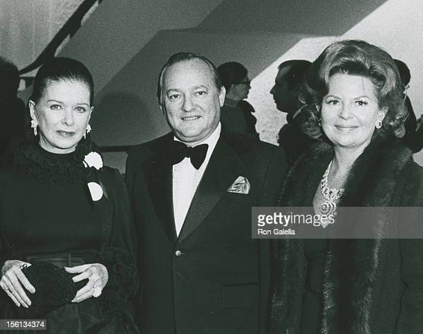 Actress Joan Bennett and guests attending 'Grand Opening Of The Uris Theater' on November 19 1972 in New York City New York