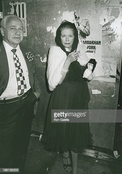 Actress Joan Bennett and husband David Wilde attending the book party for Earl Blackwell and Eugenia Sheppard 'Skyrocket' on July 1 1980 at Bonds in...