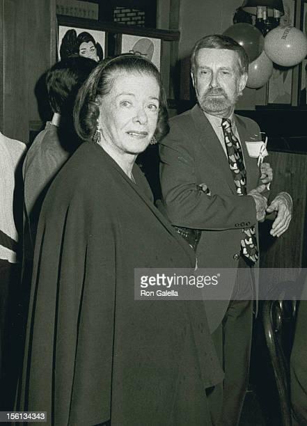 Actress Joan Bennett and songwriter Harvey Schmidt attending 'Tony Awards Committee Gala Honoring Tom Jones and Harvey Schmidt' on May 20 1984 at...