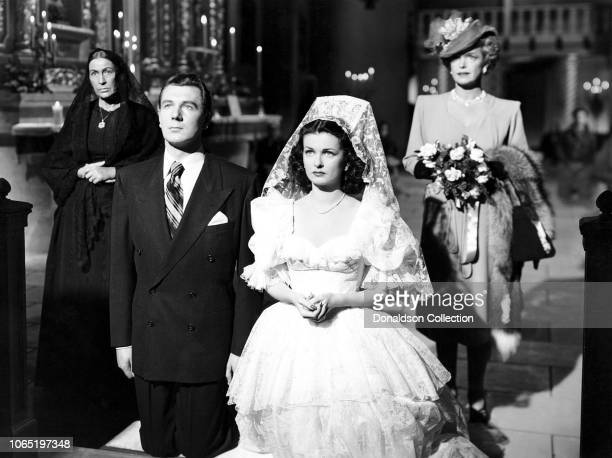 Actress Joan Bennett andosa Rosa Ray Michael Redgrave Natalie Schaefer in a scene from the movie Secret Beyond the Door