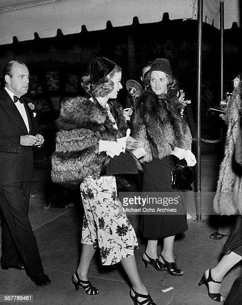 Actress Joan Bennett arrives to an event in Los Angeles California