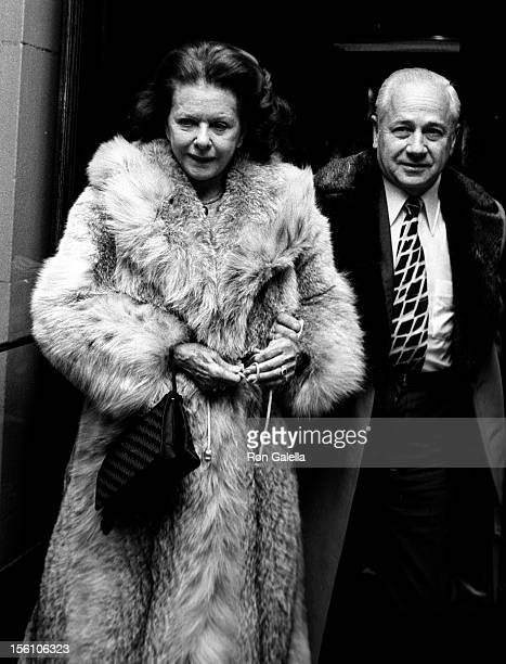Actress Joan Bennett attending 'Algonguin Hotel Party' at the Algonguin Hotel in New York City New York