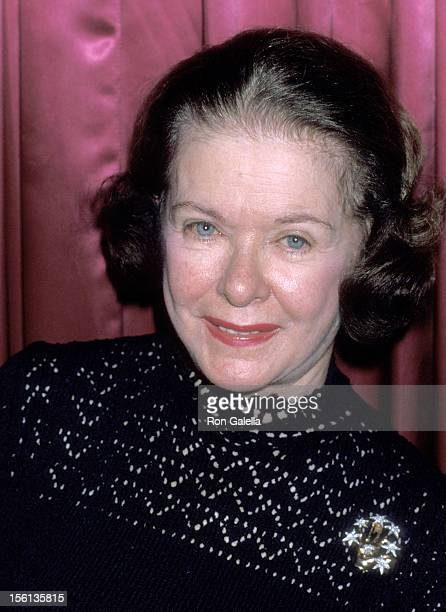 Actress Joan Bennett attends the 40th Anniversary Celebration of the El Morocco on September 20 1978 at the El Morocco in New York City New York