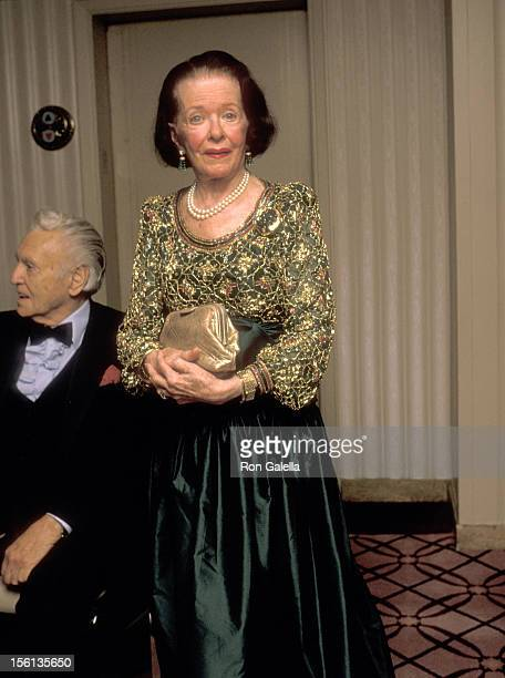 Actress Joan Bennett attends the Fragrance Foundation's 40th Anniversary Celebration and the 17th Annual FiFi Awards on June 7 1989 at WaldorfAstoria...