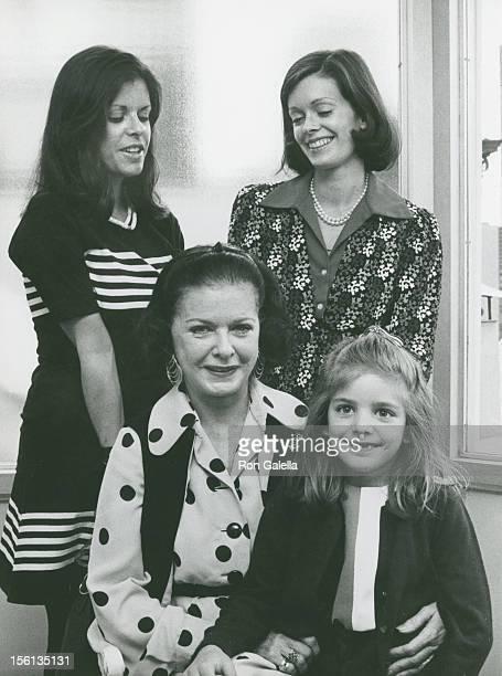 Actress Joan Bennett daughters Shelley Wanger and Stephanie Wanger and granddaughter Victoria Guest attending 'Talbot Perkins Children's Service...