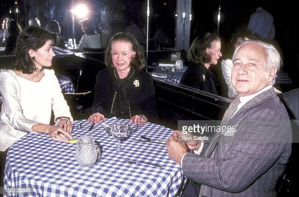 Actress Joan Bennett husband David Wilde and her daughter Shelley Wanger attend the Goldwyn Film Classics Retrospective Gala After Party on November...