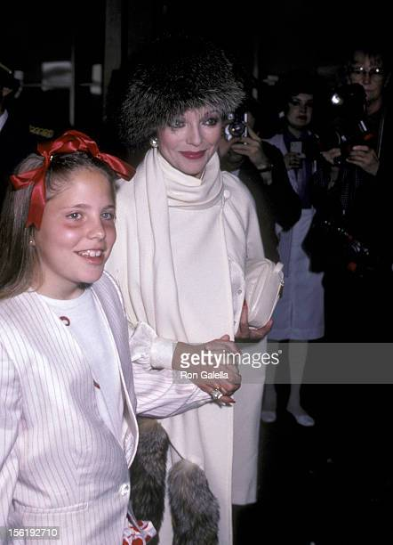 Actress Joan Collins and daughter Katyana Kass attend the Young Musicians Foundation's Second Annual Celebrity Mother/Daughter Fashion Show on March...