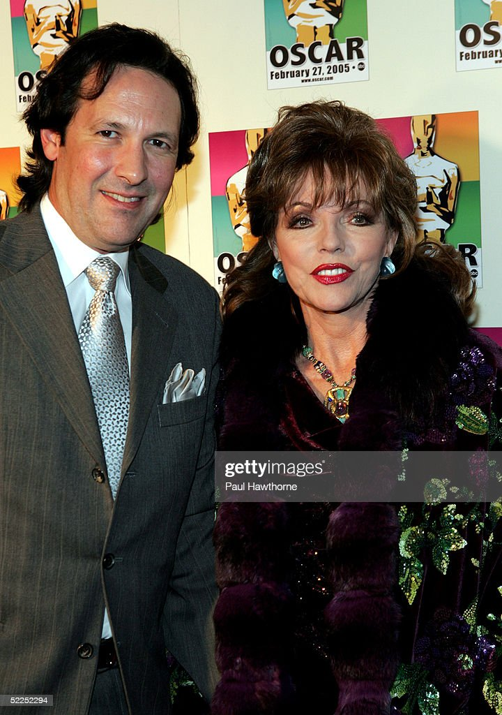 Actress Joan Collins and her husband Percy Gibson attend the official New York celebration of the Academy Awards at Gabriel's February 27, 2005 in New York City.